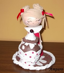 Fofucha con helado o cupcake