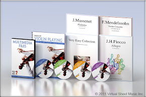 Virtual Sheet Music Violin Pack