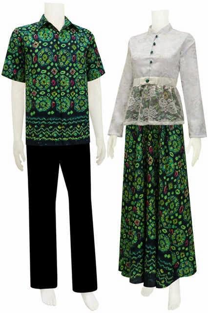 Model Baju Gamis Sarimbit Motif Jumputan Batik Bagoes Solo