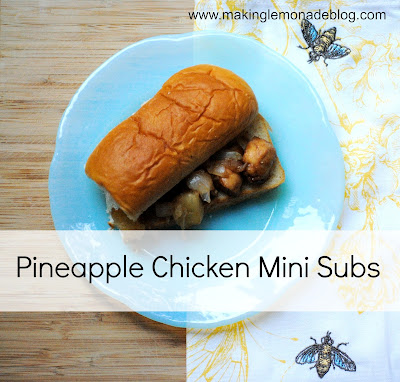 Pineapple Chicken Mini Sub Recipe with Kings Hawaiian Bread