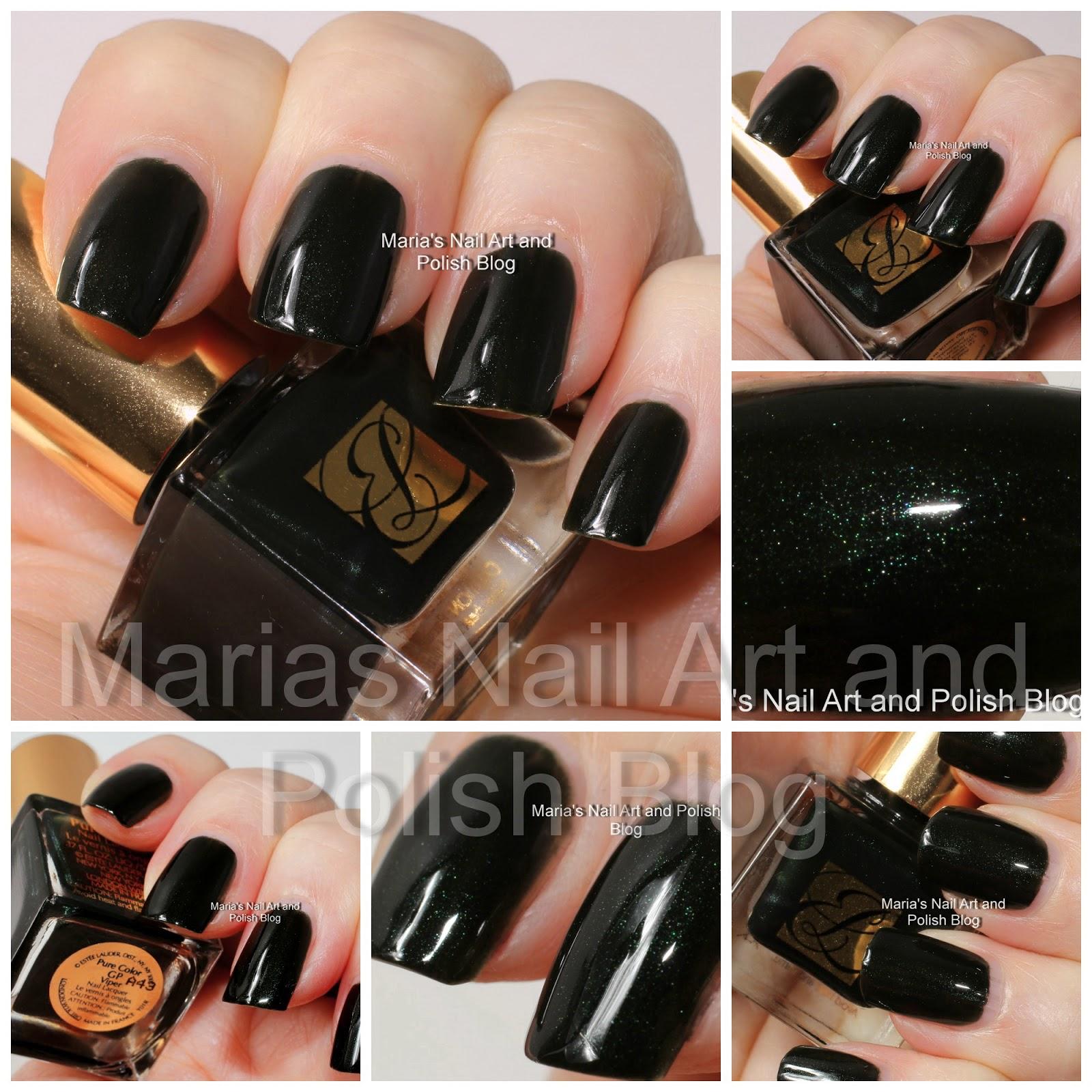 Marias Nail Art and Polish Blog: Estée Lauder Viper, Beyond Black ...