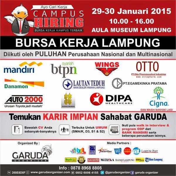 Garuda Organizer Gelar Campus Hiring Lampung di Aula Museum Lampung