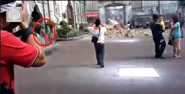 Jesus Caught On Cam After A Church Bell Tower in Philippines Collapsed