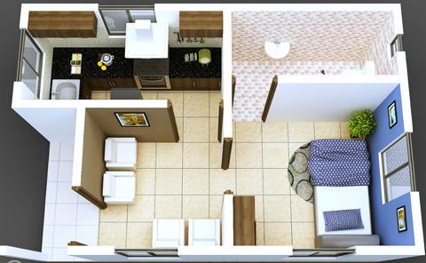 Denah rumah minimalis type 36 & Gambar Denah Rumah Minimalis Type 36 - Terlengkap