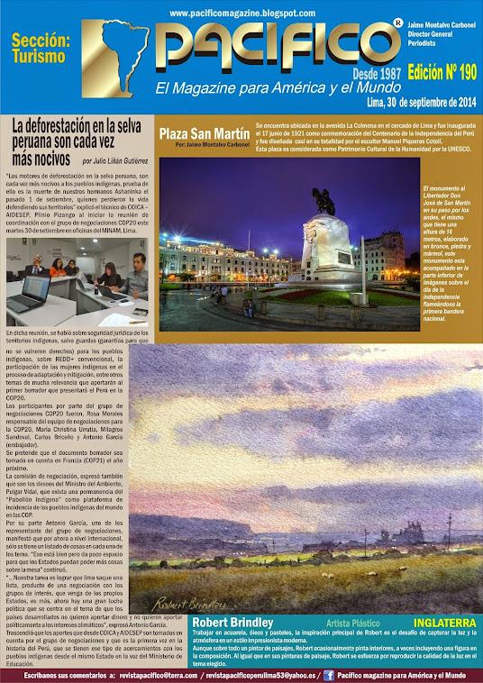 Revista Pacífico Nº 190 Turismo
