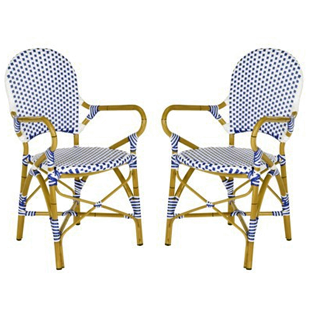 TARGET BIARRITZ 2-PIECE WICKER PATIO ARM CHAIR SET