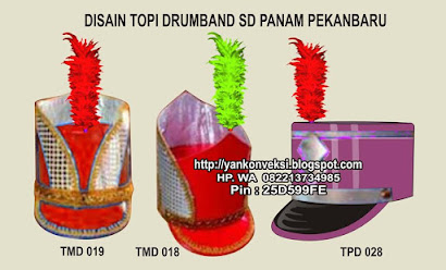 TOPI MAYORET DAN PEMAIN DRUMBAN  MARCHING BAND