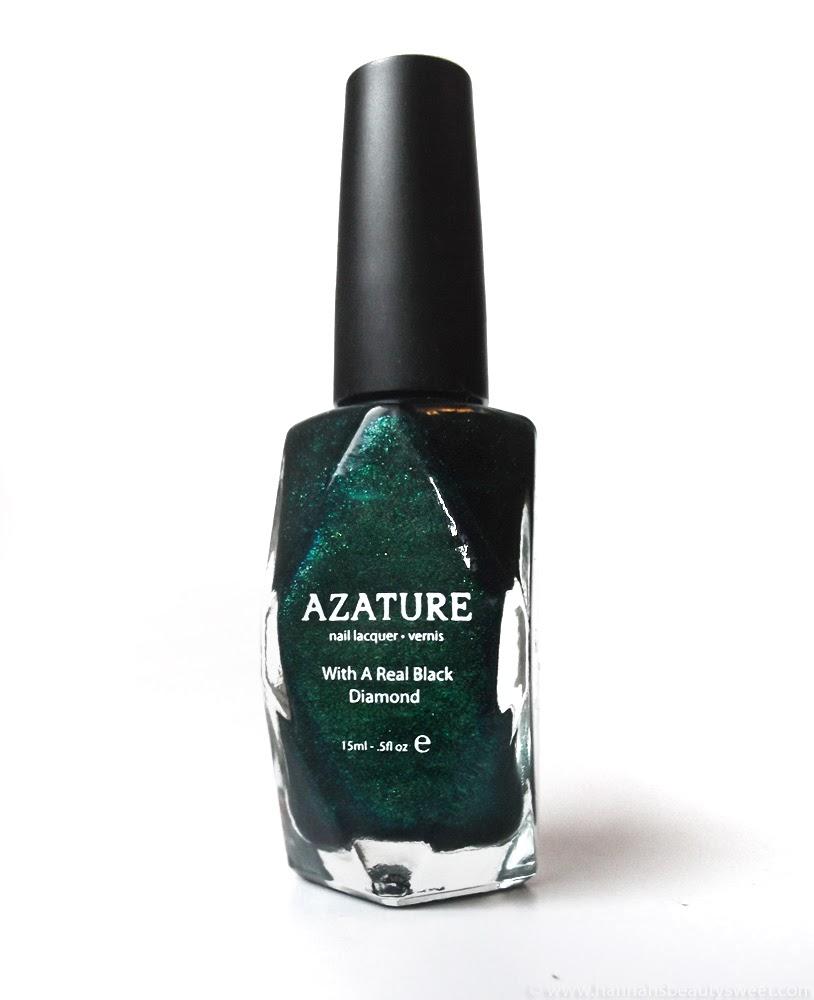 NOTD, diamond nail polish, black diamond