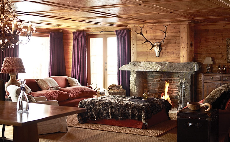 Una casa de alta monta a chalet mountain for Decorar entrada chalet