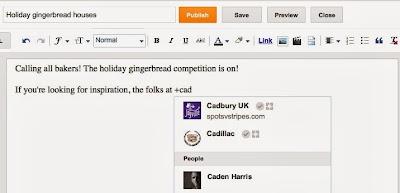 Google+ Mentionner des gens ou page G+ dans vos messages sur Blogger