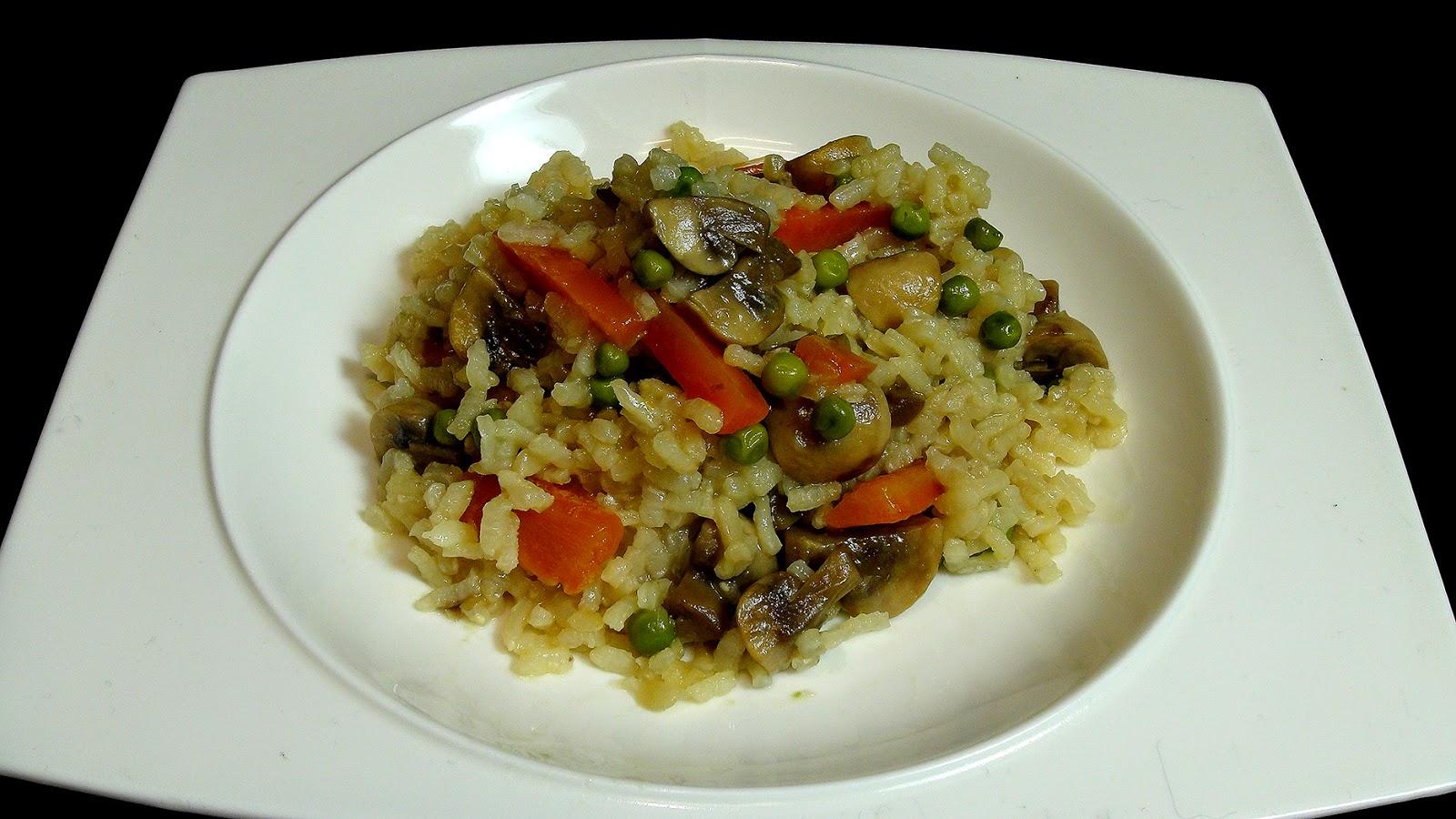 Cocinar para los amigos arroz con champi ones for Cocinar para los amigos