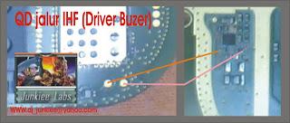 Solusi Perbaikan Nokia N Gage QD jalur IHF-Driver buzer