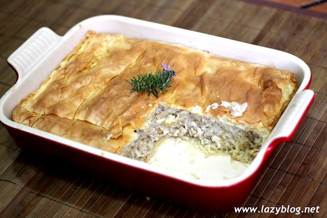 Lazy blog pilaf de pollo en pasta filo receta griega de vefa - Que hacer con la pasta filo ...