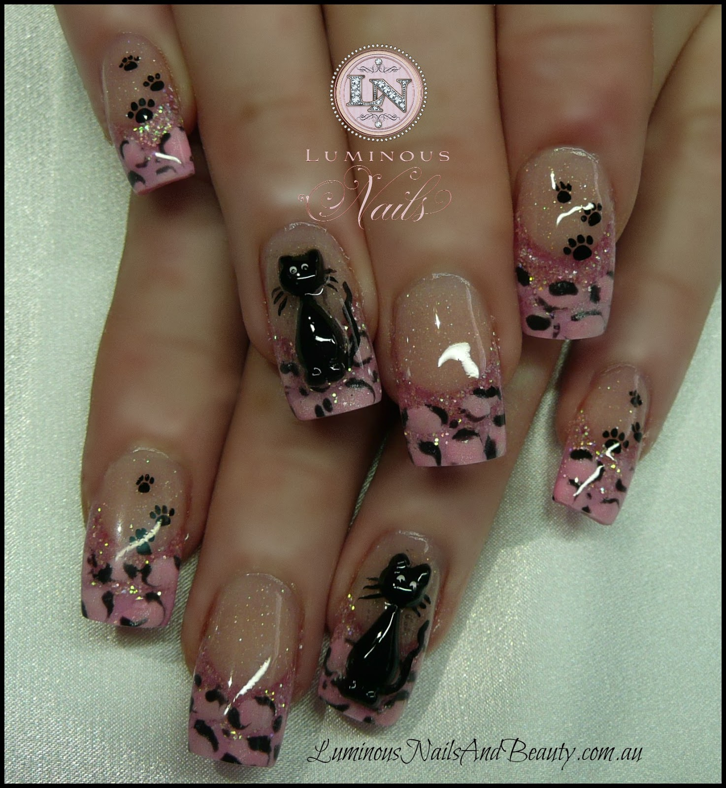 Cheetah print nail designs 2015