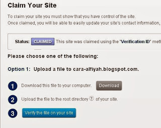 verification-id traffic Alexa in Blogger