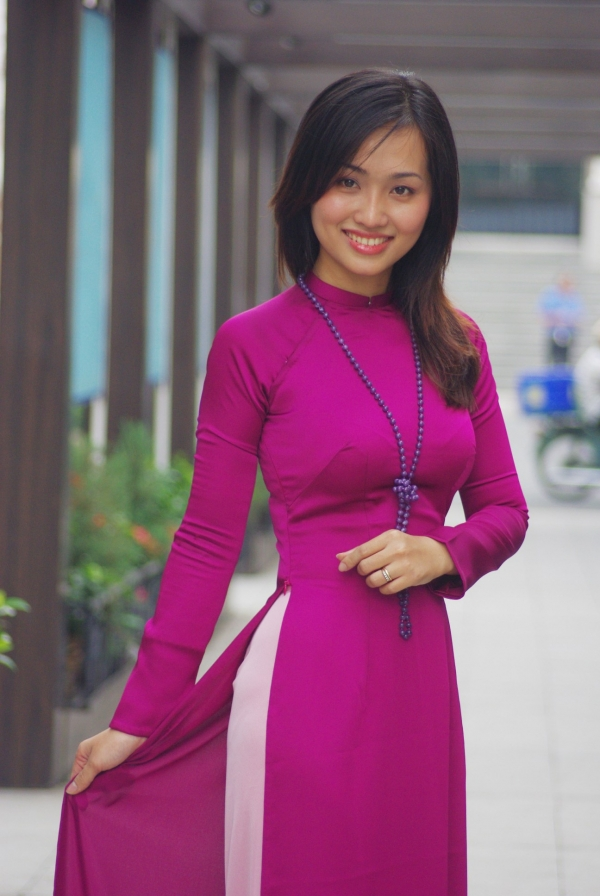 Excellent Ao Dai Traditional Long Dress For Vietnamese Women