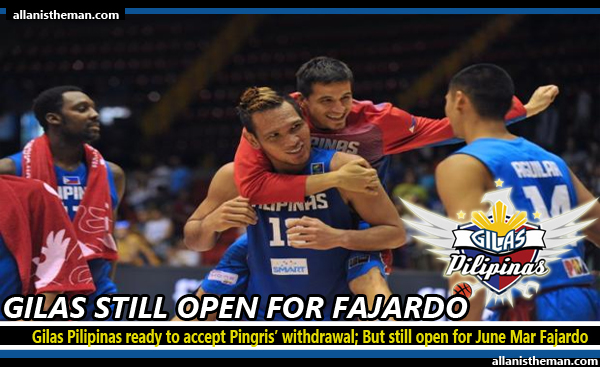 Gilas Pilipinas ready to accept Pingris' withdrawal; But still open for June Mar Fajardo