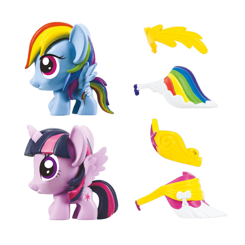 MLP Fashems Series 2 Fashion Rainbow Dash and Twilight Sparkle