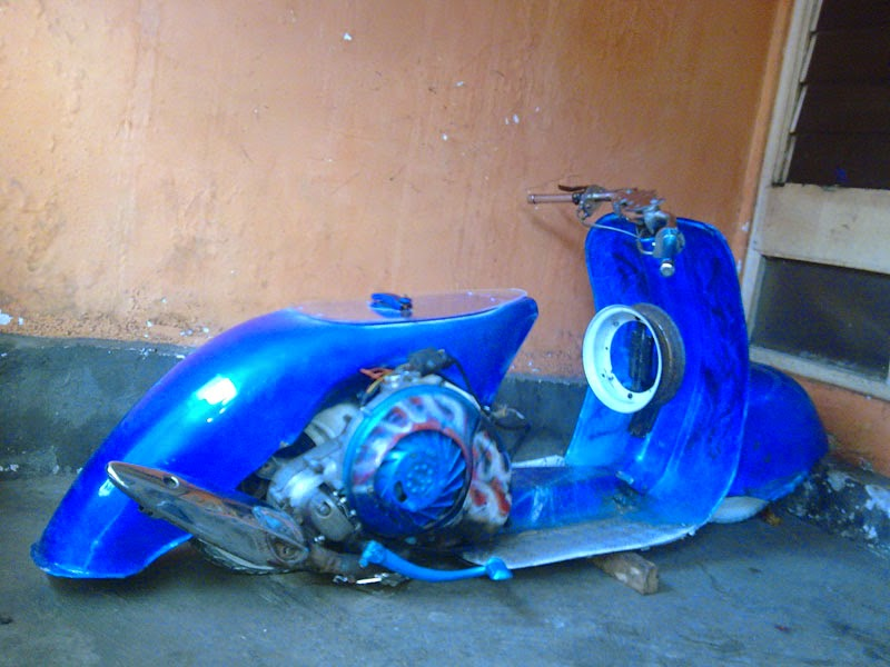 Modifikasi Motor vespa ceper gasruk