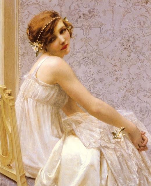 Virgin,Guillaume Seignac,white dress