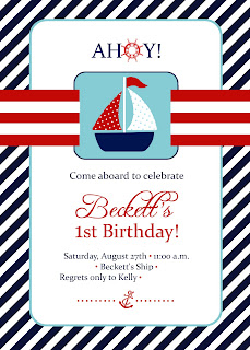 Nautical by Nature blog: Nautical First Birthday Party