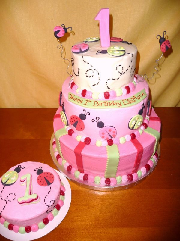 Cake Ideas For First Birthday Girl : Birthday Cake Cupcake: 12/28/11