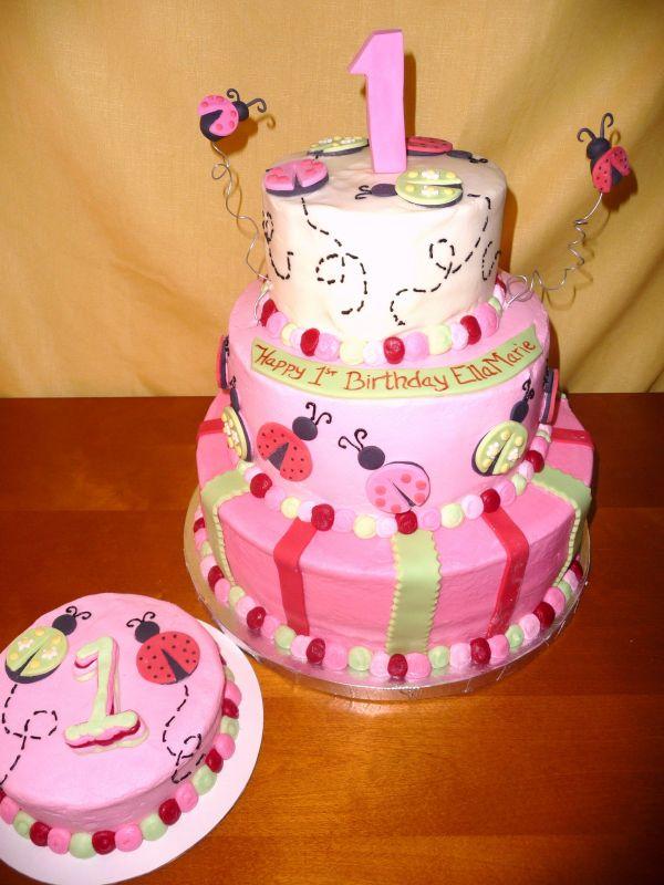 1st birthday cake designs for girls