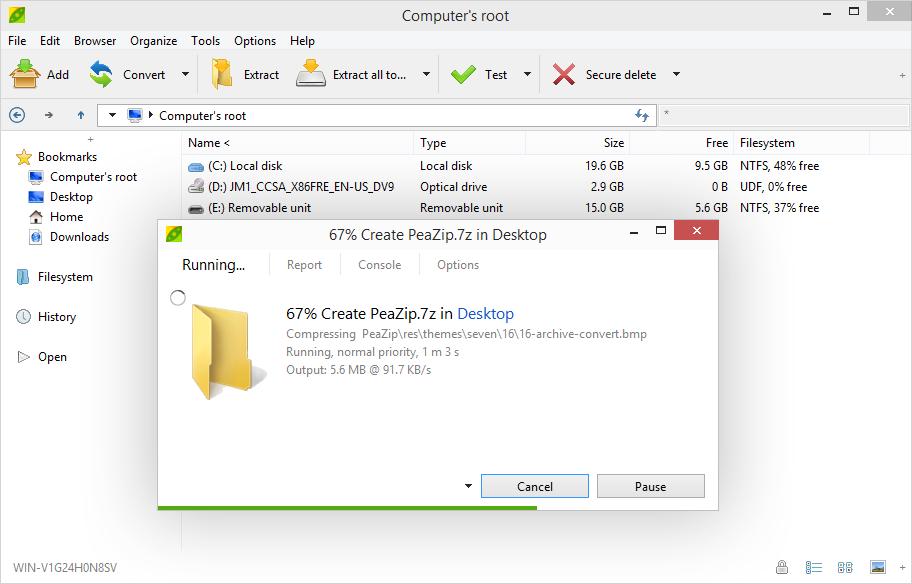 Free Zip / Unzip utility, rar files opener