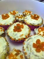 Zucchini Bread, Apricot Flowers