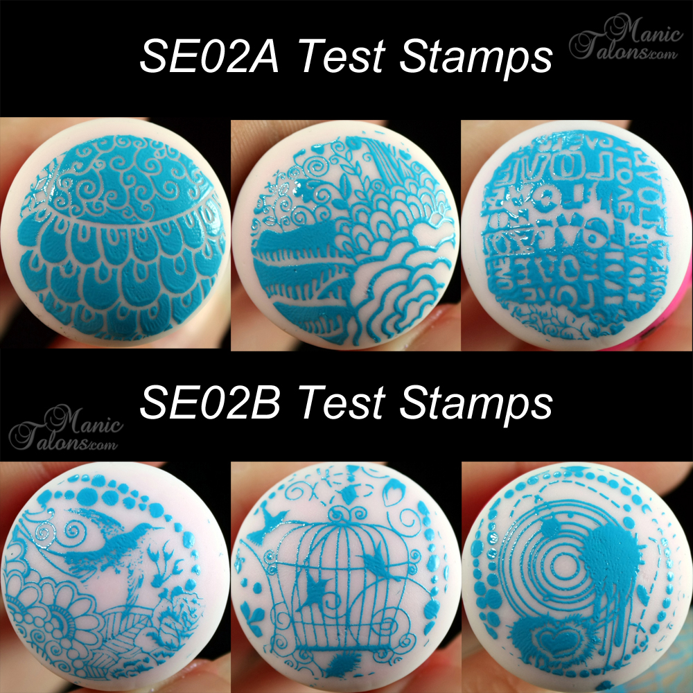 Pueen SE02 A and B Test Stamps