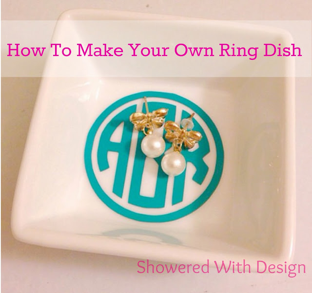 Showered With Design: How To Make Your Own Ring Dish