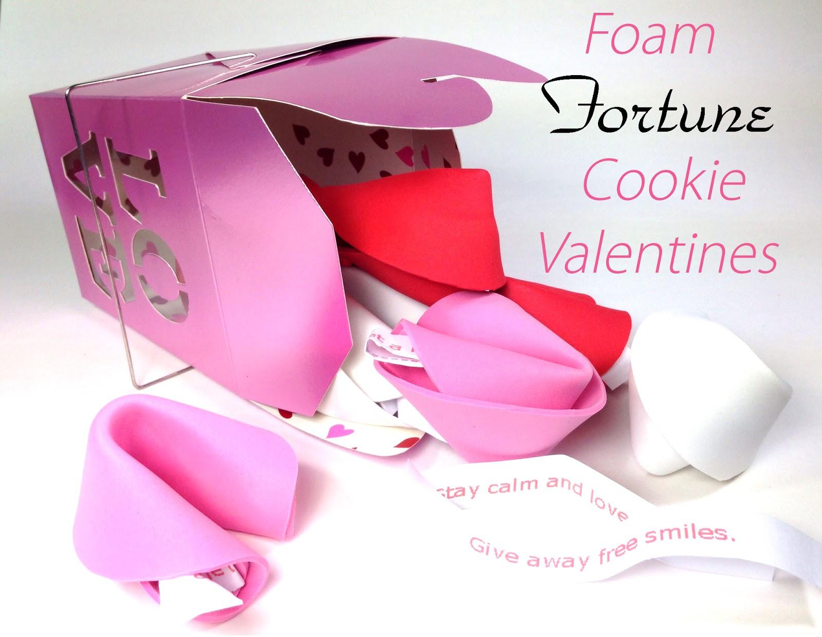 365 Designs: Foam Fortune Cookie Valentines