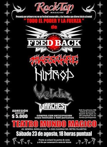 Recitales en Chile Agosto                                                                  Rock Top