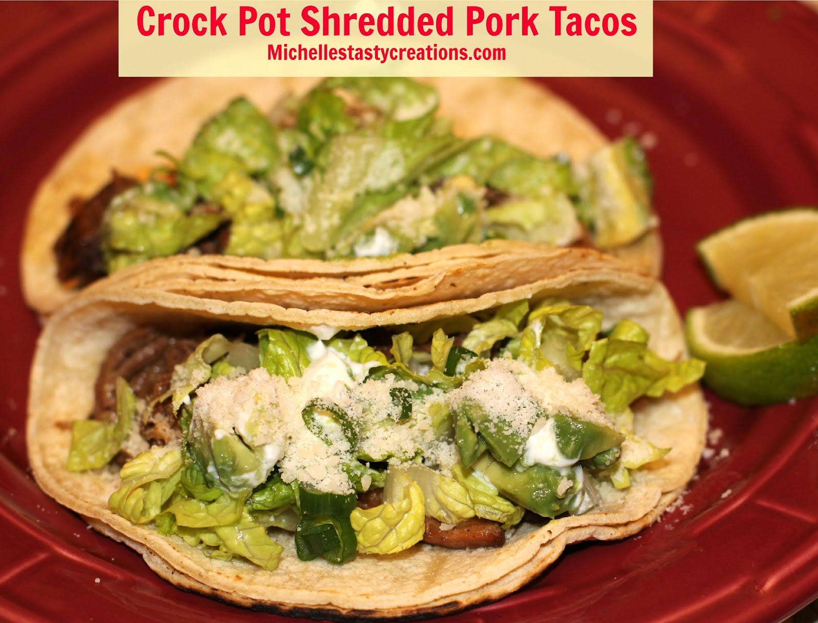 Michelle's Tasty Creations: Michelle's Shredded Pork Tacos