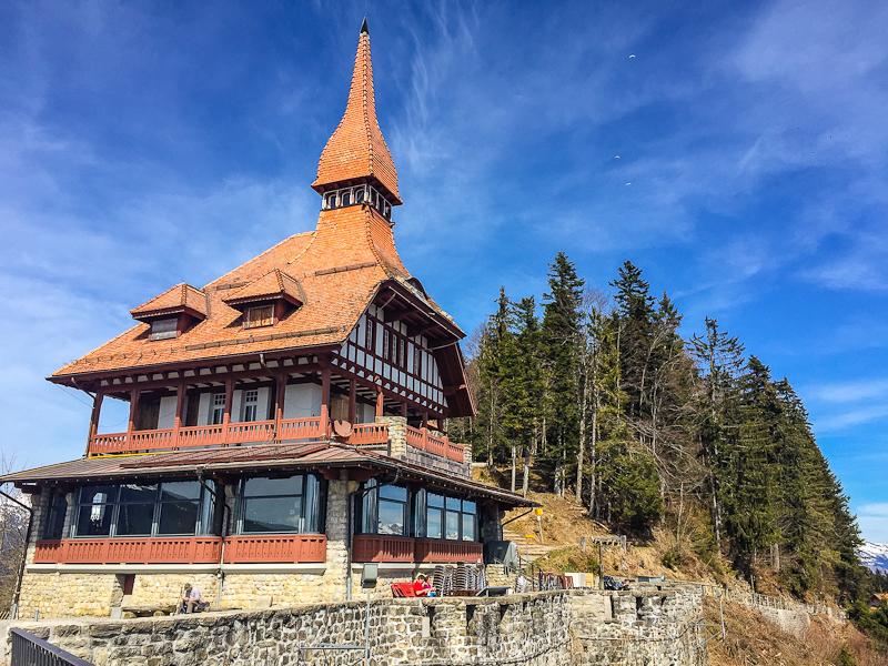 Restarurant that was closed on Harder Klum in Interlaken Switzerland