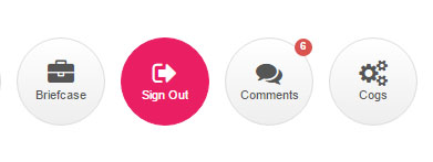 Circle Button with Icon and Text