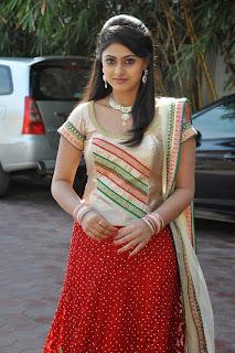 Actress Megha Sree Stills in Anaganaga Oka Chitram Launch Pictures 15.jpg