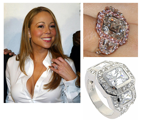 Mariah Carey Wedding Ring: All That Glitters In Not Gold !: The Bigger The Better