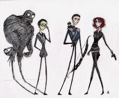 avengers,superheroes,fan art,tim burton,Capes on Film