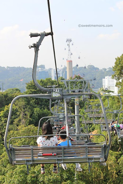 skyride and cable car at sentosa