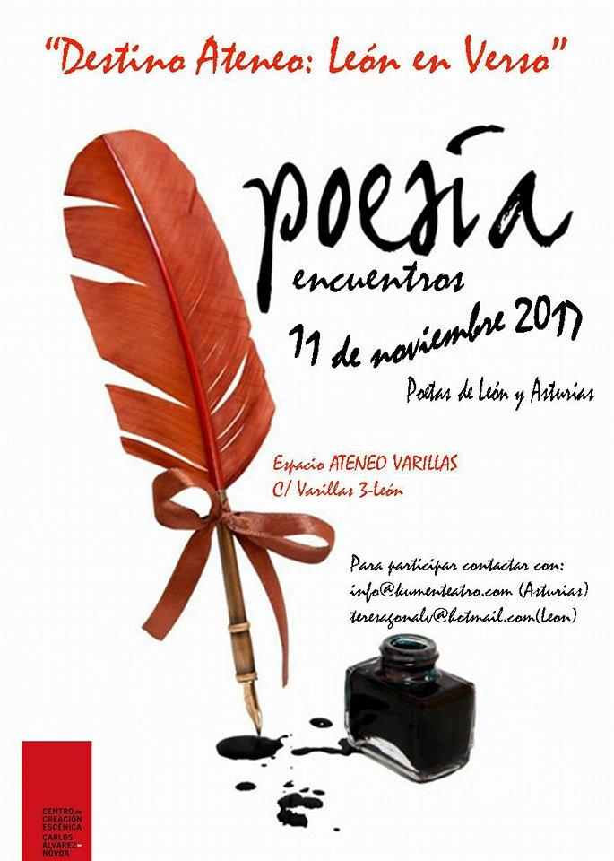 Destino Ateneo: León en Verso. Encuentro poético León-Asturias, con el CCE Carlos Álvarez Novoa