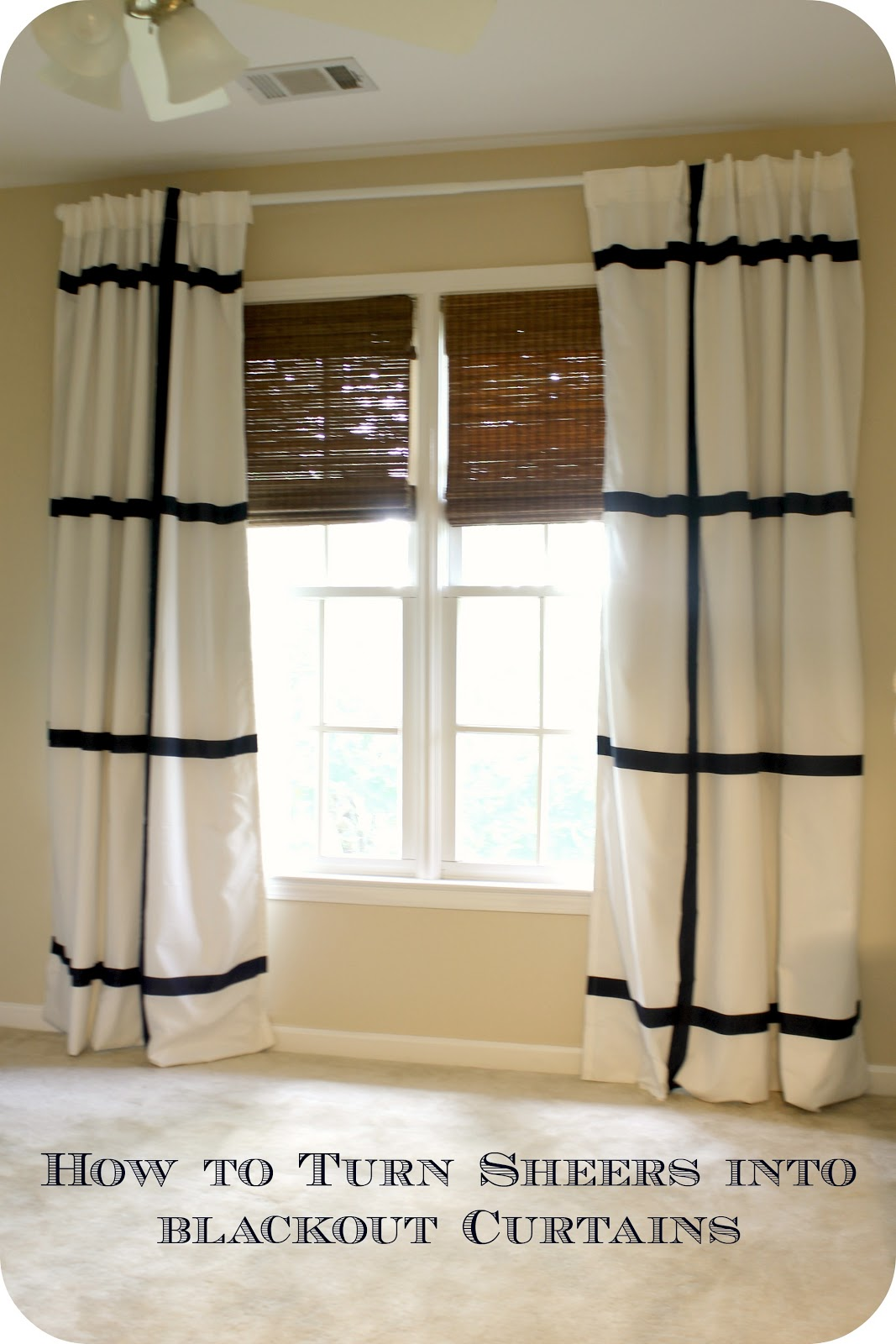 How to turn sheers into black out curtains