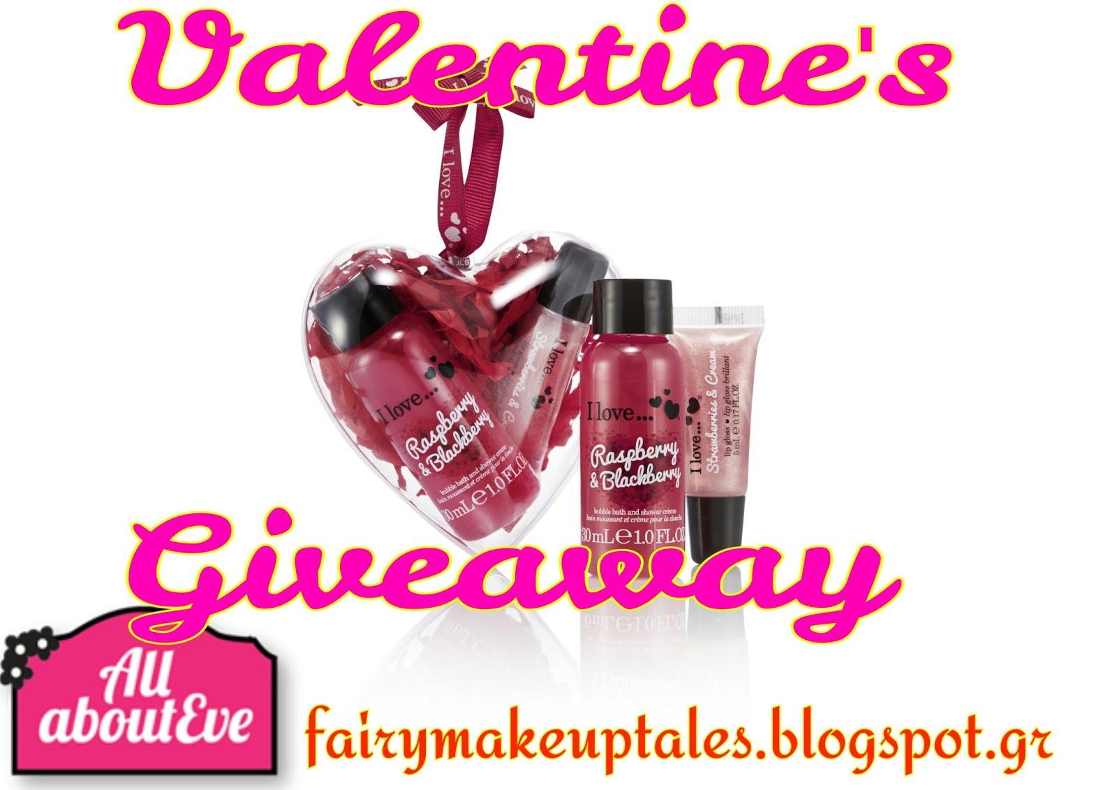 Valentine's Giveaway for 2 lucky Fairies!
