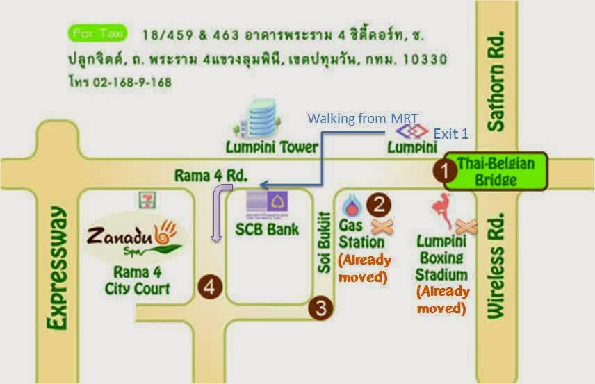 Zanadu Spa Bangkok Map Tourist Attractions in Bangkok Thailand – Thailand Tourist Attractions Map