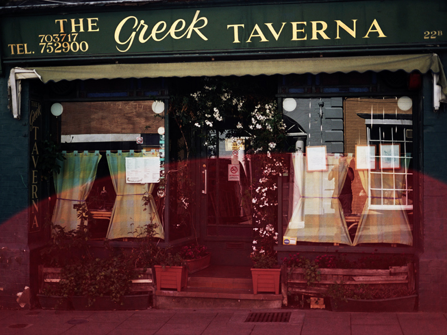 greek taverna - photograph by Tim Irving