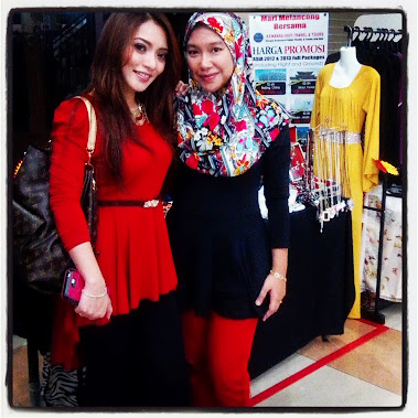 Me with Diana Rafar at Anggerik Mall MAFA Bazaar. Shes wearing Fishtail Peplum from Ony'sCollection