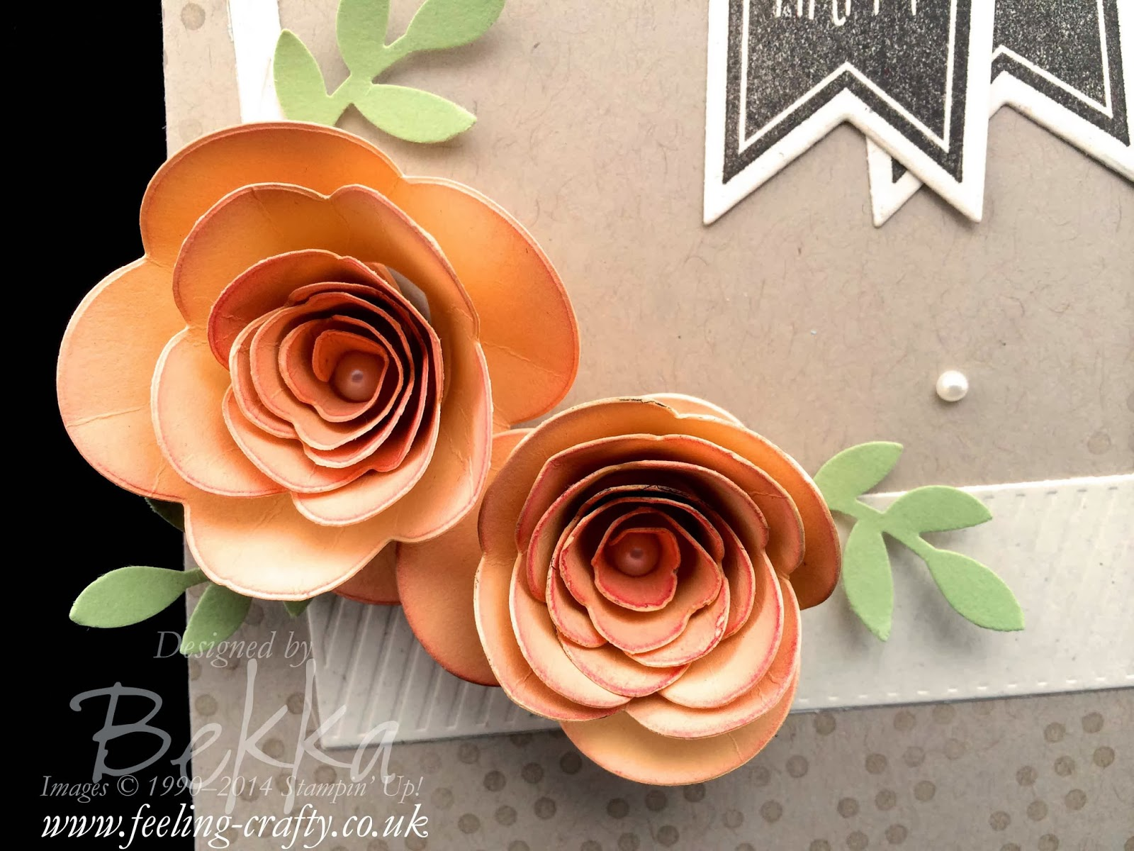 Two Tone Spiral Flowers on a card - check it out here
