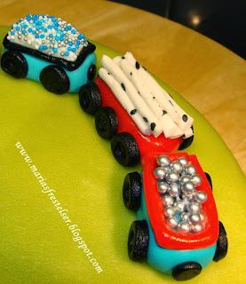 Tårta med tåg