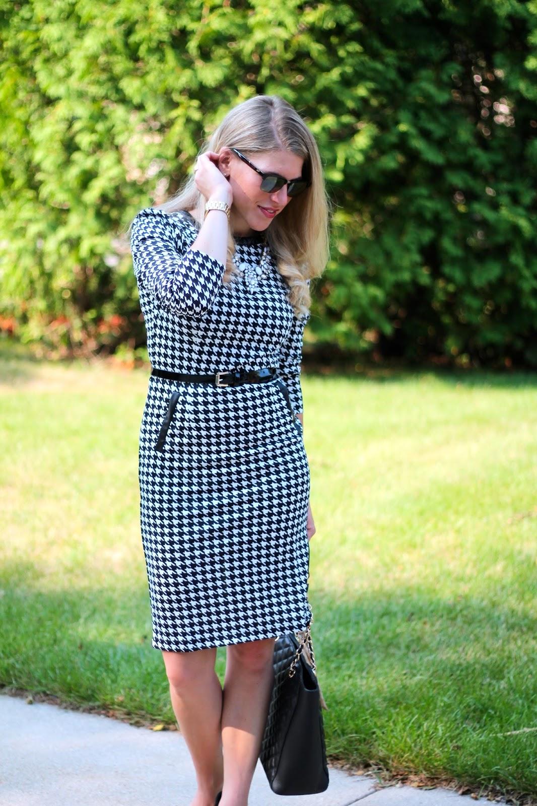 I Do DeClaire Confident Twosday Houndstooth Dress