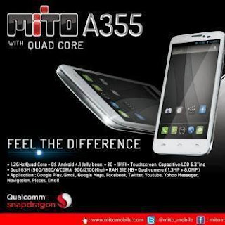 Mito A355, Ponsel Android Dual SIM